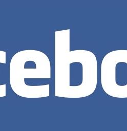 Facebook corporate logo.