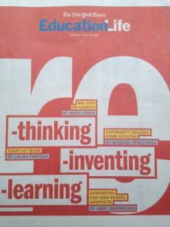 photo of the cover of the education life supplement